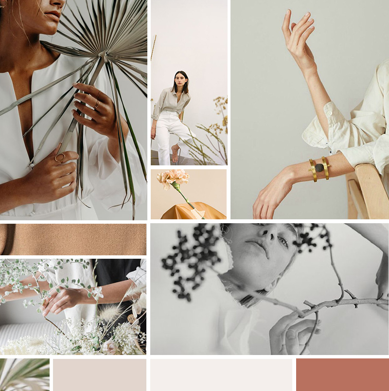 brand Moodboard for Nice Flowers photo shoot by The Visual Corner