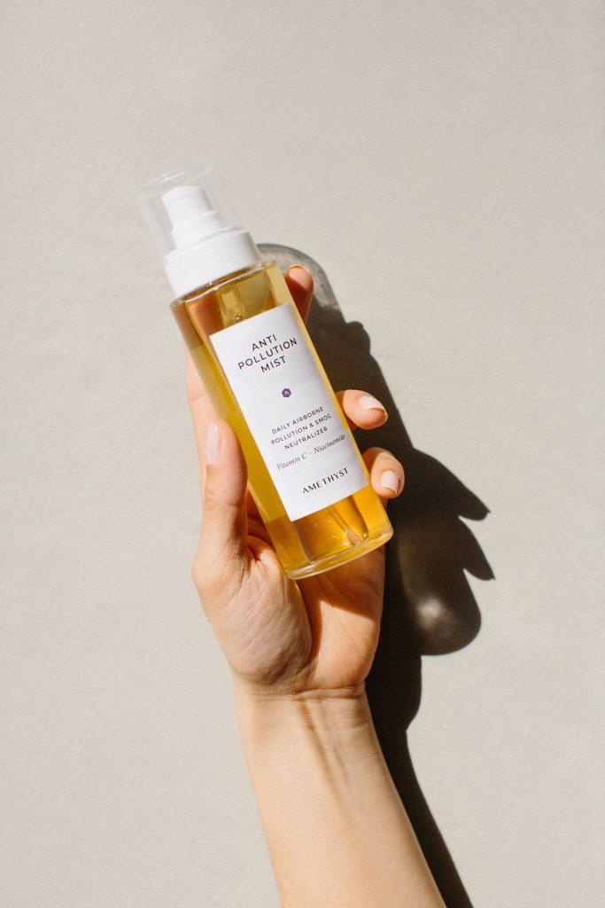 Amethyst skincare branding and packaging by The Visual Corner studio