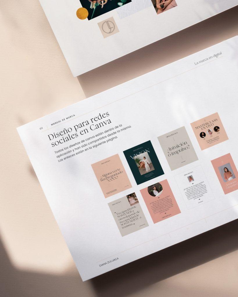 Branding for Diana Zualuaga by The Visual Corner studio