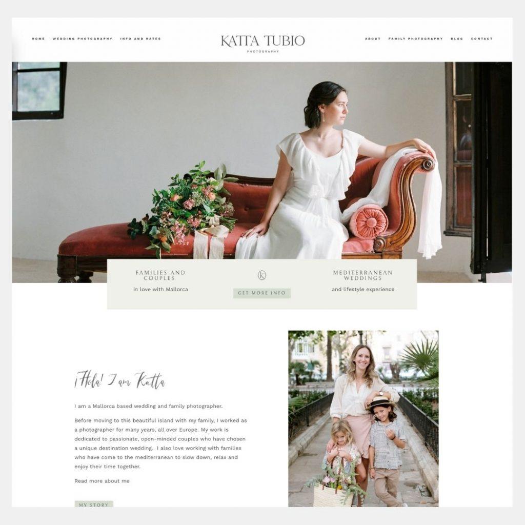 Katta Tubio photographer custm web design the visual corner