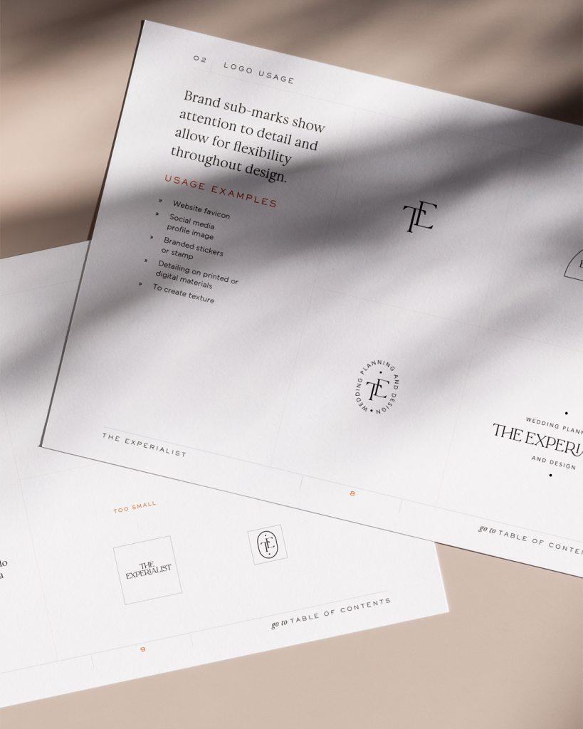 The Experialist luxury weddin planner branding by The vIsual corner
