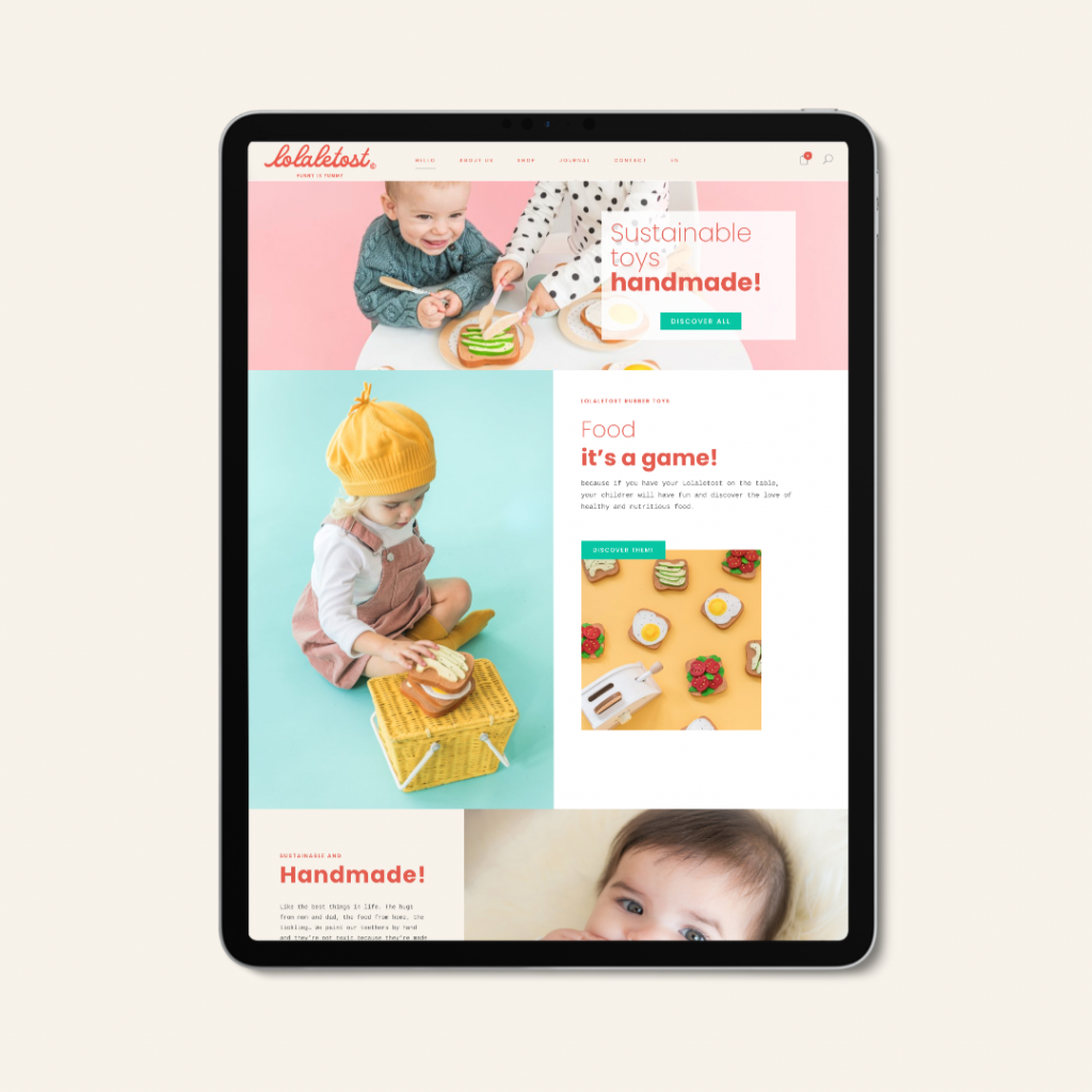 Custom web design for toy company by The Visual Corner