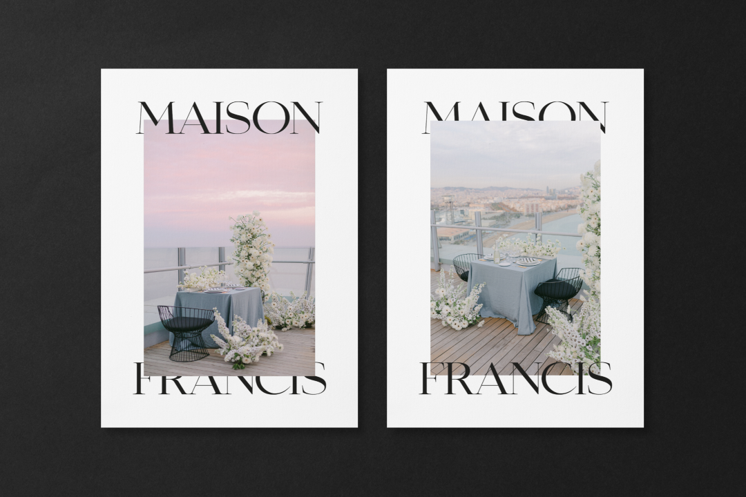 Brand design for floral stylist Maison Francis by The Visual Corner