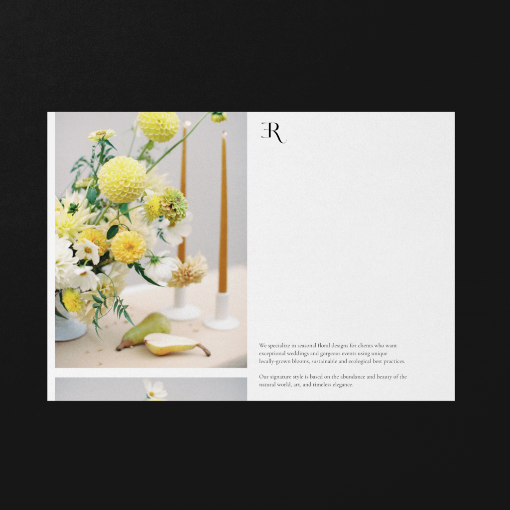 Floral stylist Rita Experience branding by The Visual Corner